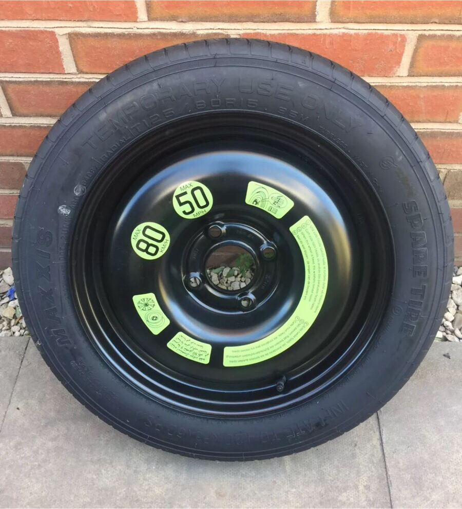 "15"" 4x108 Peugeot Space Saver w/ 125/80/15 Tyre"