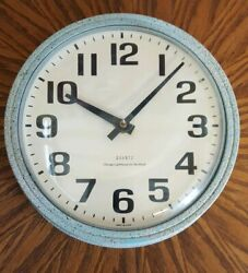 Vintage Mid Century Modern School Style 8 Wall Clock - Made in USA - Nice+