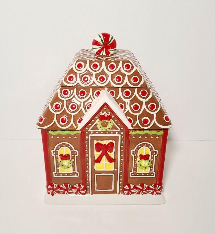 Gingerbread House Cookie Jar by Burton + Burton Jumpin Gingerbread