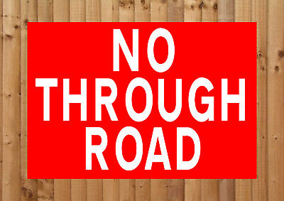 NO THROUGH ROAD Metal SIGN ≈ private drive lane keep out access parking (Industrial Park Drive)