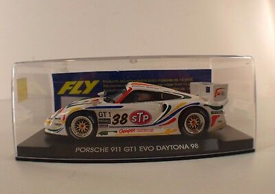 Fly n° A53 slot car Porsche 911 GT1 EVO Daytona 38 neuf boite 1/32