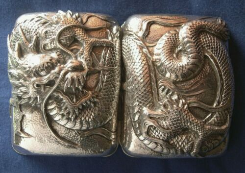 681-Antique silver Japanese soap case