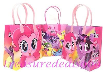 HASBRO MY LITTLE PONY 6 PCS GOODIE GIFT BAGS PARTY FAVOR TREAT BIRTHDAY BAG NEW (My Little Pony Gift Bag)