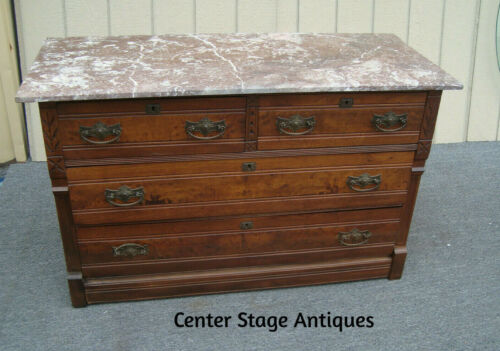 00001   Tennessee Marble Top Victorian Dresser Chest