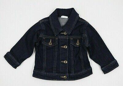 Wrangler Baby Unisex Boy Girl Blue Denim Jean Jacket Size 6-9 Months