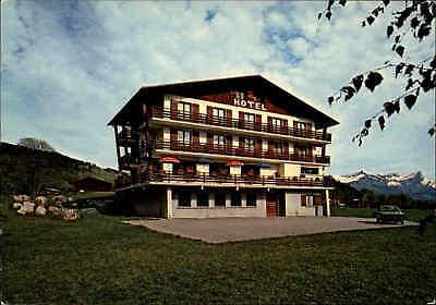 Megève Hotel Restaurant Les Mourets France Carte Postale Postkarte AK ~1970 (Restaurant, Cart)