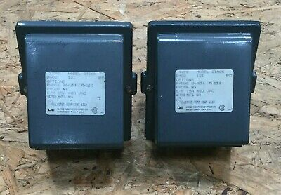 Lot Of 2 United Electric Controls Model 121 Temp Switch Type B402 480vac