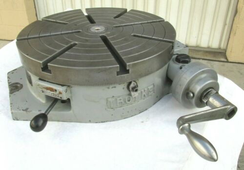 "TROYKE 15"" HORIZONTAL ROTARY TABLE - #R-15"
