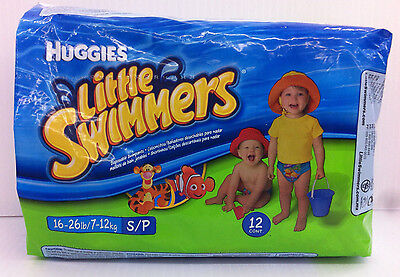New Huggies Little Swimmers Disposable Swimpants Small 16-26 lbs 12 Count