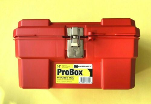 Plastic toolbox - high quality Akro Mils 14-Inch ProBox model 9514 -Red