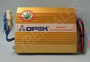 Opek VR15 DC Voltage Reducer Converter 24 Volt to 12 v 15 amp  inverter 24v-12v