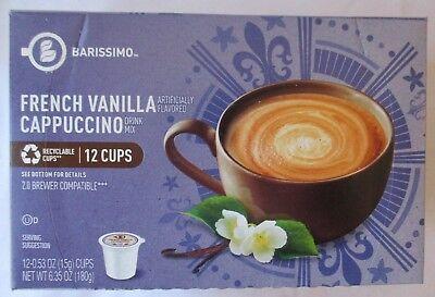 BARISSIMO FRENCH VANILLA CAPPUCCINO FLAVORED COFFEE 12 PODS K-CUPS BOX French Vanilla Flavoring