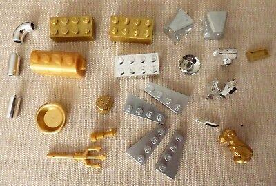 LEGO Silver, Gold, chrome, U CHOOSE Brick Tailpipe engine treasure chest plate ](Gold Chestplate)