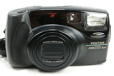 Pentax Zoom 105 Super 35mm Point And Shoot Camera Tested Works Auto Focus