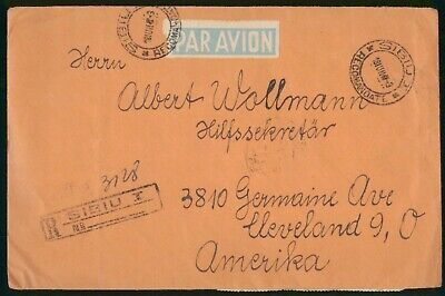 MayfairStamps Romania 1981 Sibiu Registered to Cleveland Ohio Air Mail Cover wwo