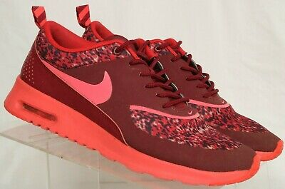 online store 960f7 19a85 Nike Air Max Thea Language 599408-601 Maroon Athletic Running Shoes Women s  US 8