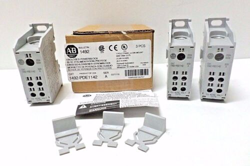 Allen Bradley 1492-PDE1142 Ser A 200A Enclosed Power Distribution Block BOX OF 3