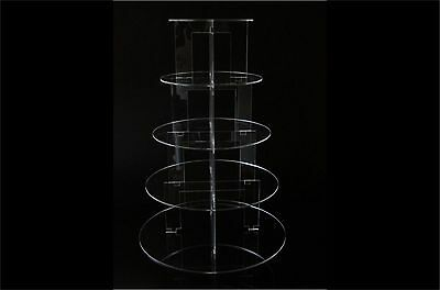Reviews Tier Circle Acrylic Cupcake Party Wedding Cake Stand Ebay