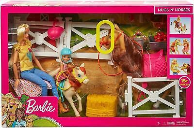 Barbie Doll & Chelsea & Horses and 15 pcs Accessories kids toys playset bundle