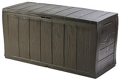 Keter Sherwood Outdoor Plastic Storage Box Garden Furniture, 117 x 45 57.5...