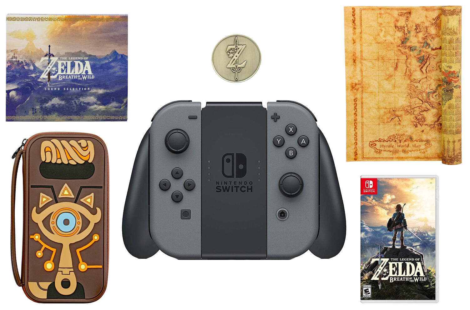 NEW Nintendo Switch Special Edition Zelda BotW Bundle ...