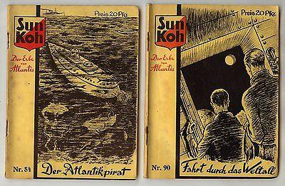 Sun Koh 1933 Originalhefte Nr. 67-101  Bergmann Verlag 18 verschiedene Hefte SF