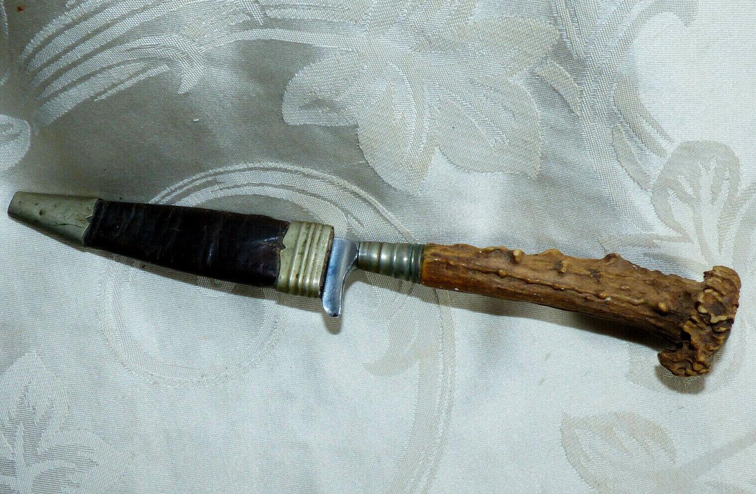 Ancien Couteau de Chasse dit Nicker marque Güthner Rostfrei