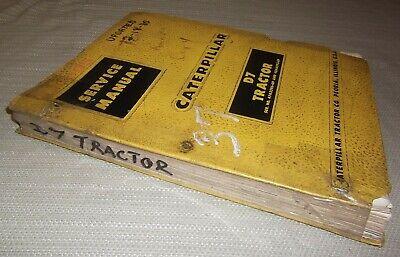Cat Caterpillar D7 D7e Tractor Dozer Service Shop Repair Manual Sn 47a 48a