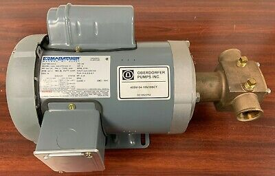 Oberdorfer 405m Rubber Impeller Raw Water Pump 1 Hp Marathon Electric
