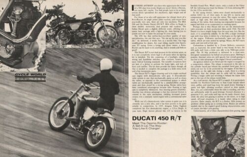 1971 Ducati 450 R/T Motorcycle Road Test - 4-Page Vintage Article