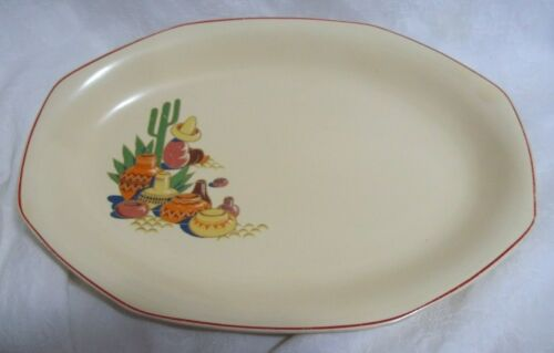 Vtg Homer Laughlin Hacienda Mexicana Serving Platter: SO FUN!