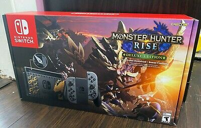 Nintendo Switch Console Monster Hunter Rise Edition IN HAND New Complete System