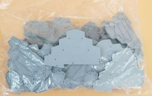 LOT OF 42 NEW PHOENIX CONTACT D-ST 2,5-PE/3L TERMINAL BLOCK END CAPS 3036673