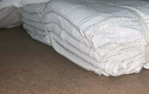 "500 new great mechanics shop rags towels white jumbo 13""X14"""