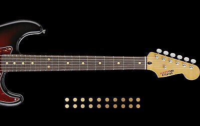 Dot Inlay Fret Markers Stickers GOLD CHROME Decals DOT INLAY SET For Any Guitar Gold Dot