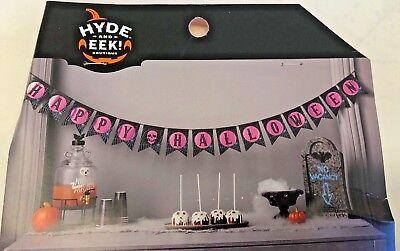 1 Happy Halloween Garland Banner teacher supply party decor 6' 8