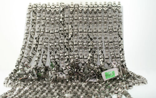 """20 WHOLESALE LOT OF Black & Blue 8mm Stainless Machine Parts Chain Necklace 22"""""""