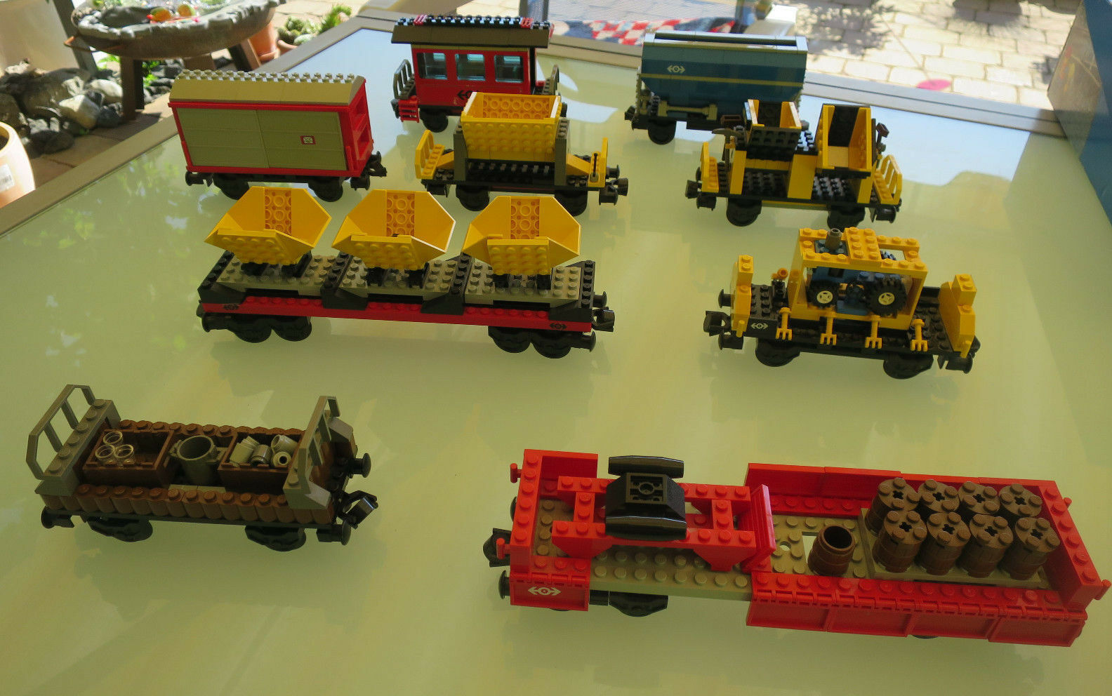 (MB) LEGO Eisenbahn merci & Persone veicolo 4565 3225 4563 4536 4544 4563