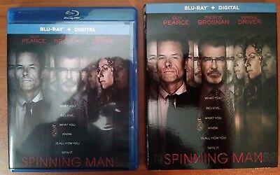 Spinning Man (Blu-ray, 2018) Guy Pearce, Pierce Brosnan, M. Driver - No Digital