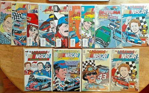 NASCAR Lot Of 13 Comics Books Adventure And Legends Of NASCAR