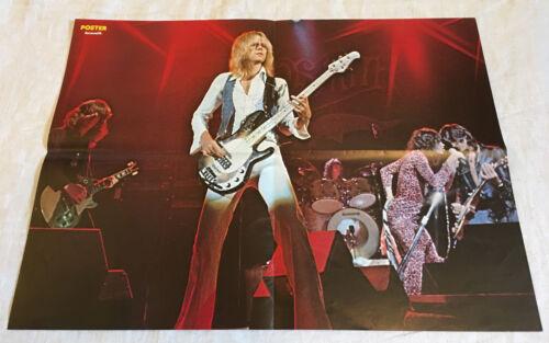 Aerosmith 1976 Steve Tyler Joe Perry Live - Sweden Swedish Poster Magazine 1970s