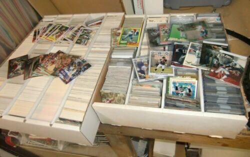 Huge Lot Of 3,500+ Football Basketball Hockey Cards + Stars! Free S&h
