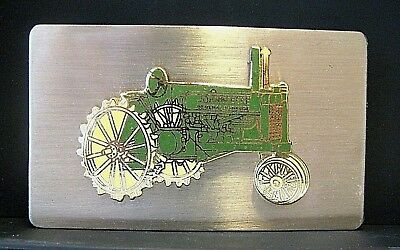 John Deere GP General Purpose Two Cylinder Tractor Belt Buckle jd Narrow Front