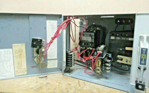"Square D Model 4, Size 1 Starter, 480V, 15A FAL Breaker, 12"" MCC Bucket -MC121"