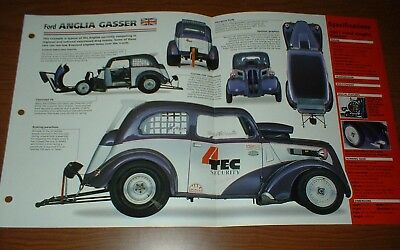 ★★191951 FORD ANGLIA GASSER ORIGINAL IMP BROCHURE 1951 NHRA RACING★★