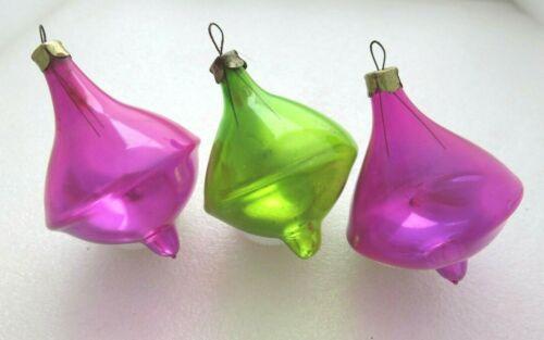 3 Whirligig Vintage Soviet Russian Christmas Ornament USSR Trinket Lantern Ice