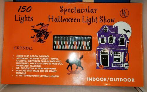 Halloween Lights 150 Lights Orange Green Purple 51ft 6150 337