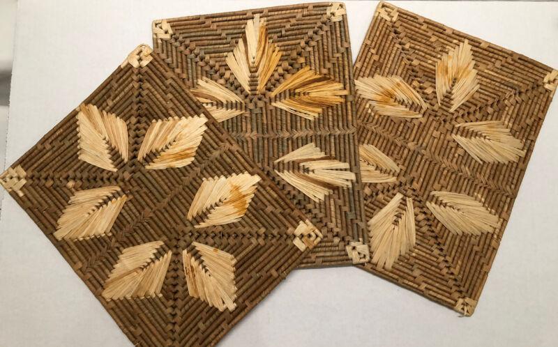 Vintage Boho Woven Placemats Trivets Mats