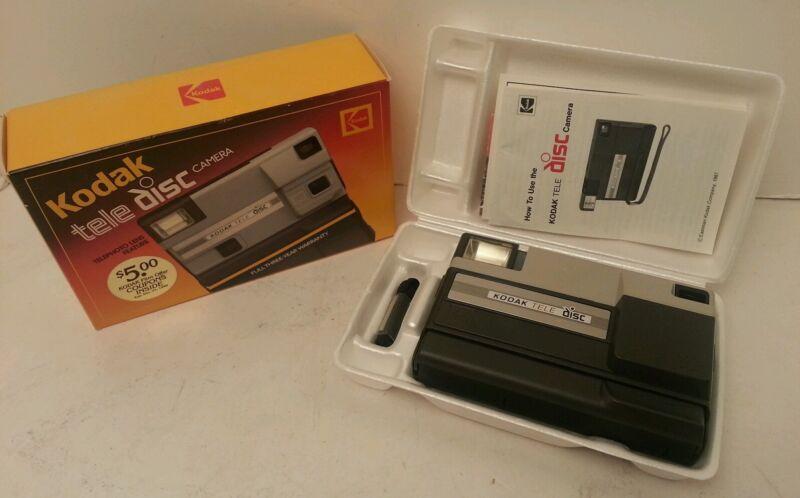 Kodak Tele Disc Camera With Original Box and inserts  RARE Find