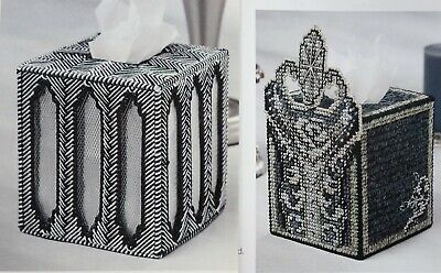 Art Deco Tissue Topper Box Cover PLASTIC CANVAS PATTERN Box Plastic Canvas Pattern